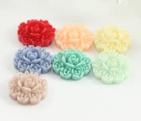 Flower Resin Cabochons Mix Pack 14pc