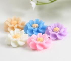 Flower Resin Cabochons Mix Pack 10pc